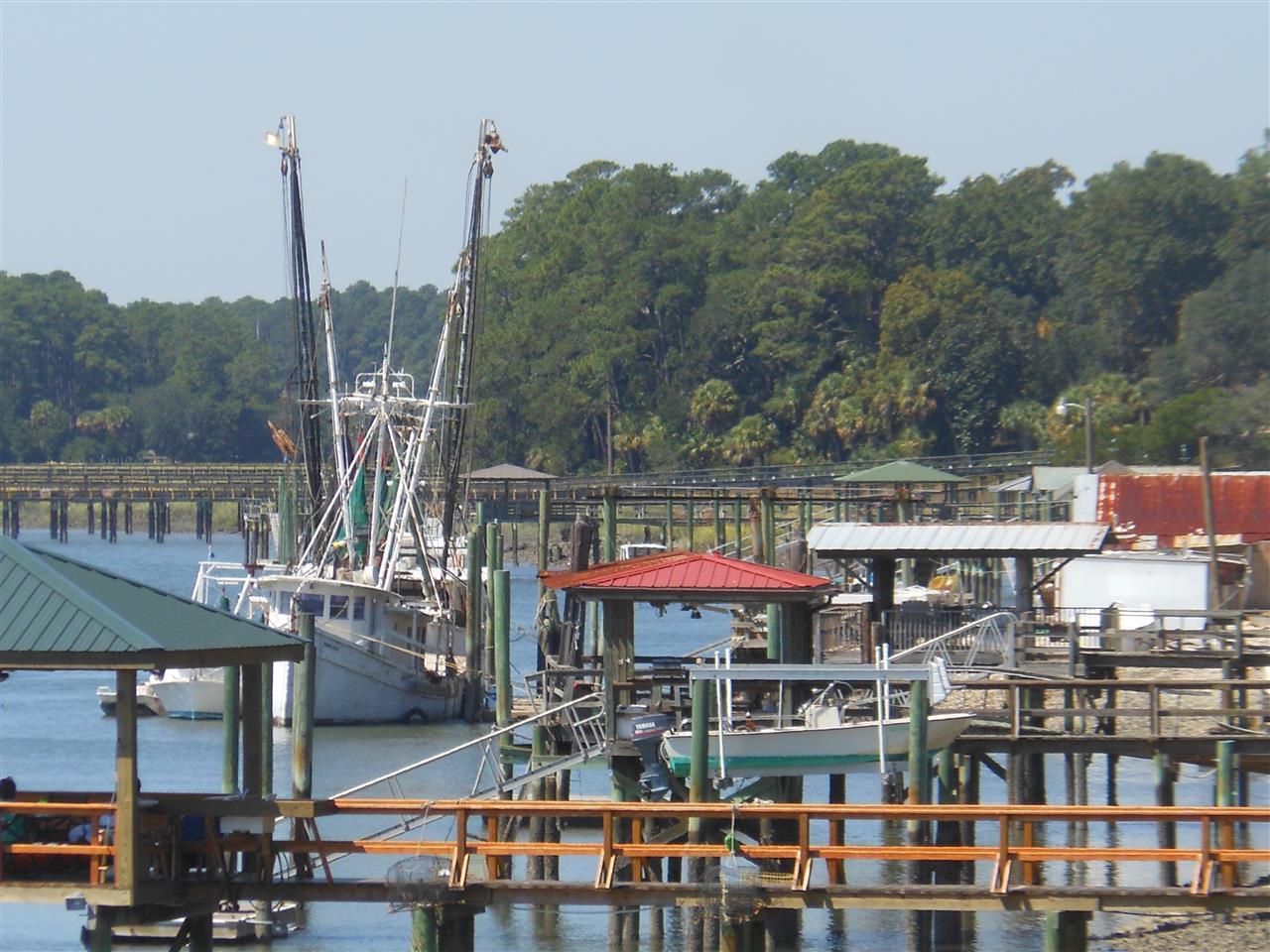 Bluffton/ Hilton Head Island SC, shrimp boat and docks on the May River
