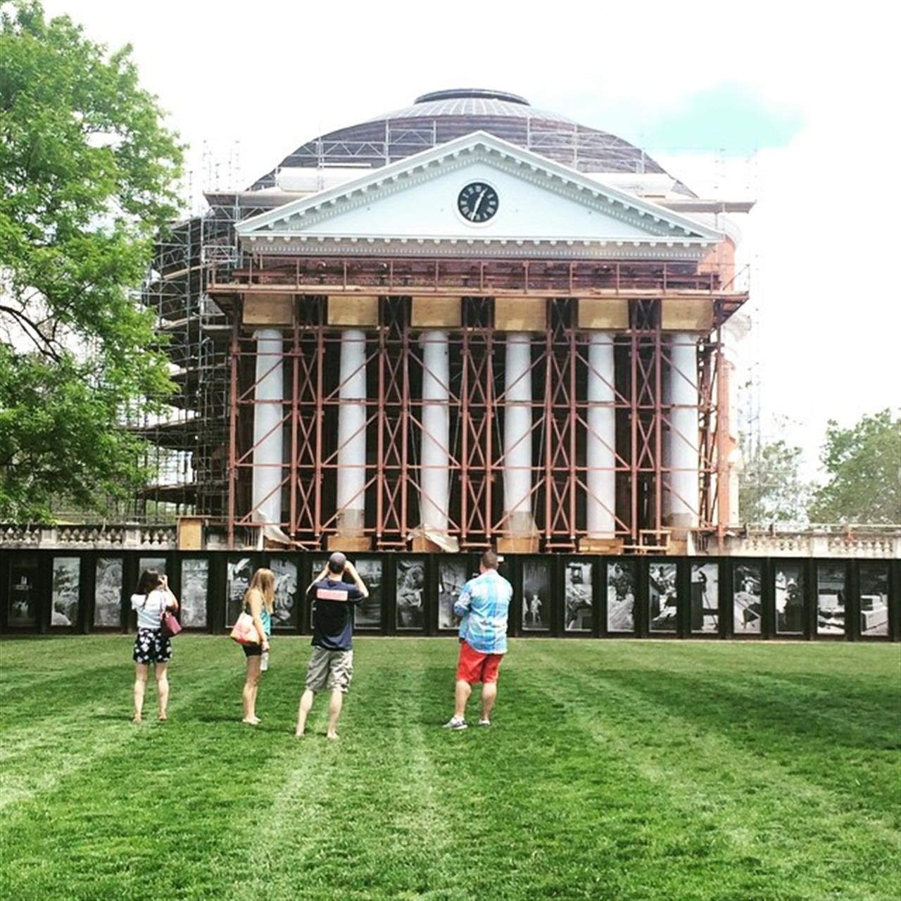 Still beautiful even though it's covered in scaffolding. #cville #architecture #uva