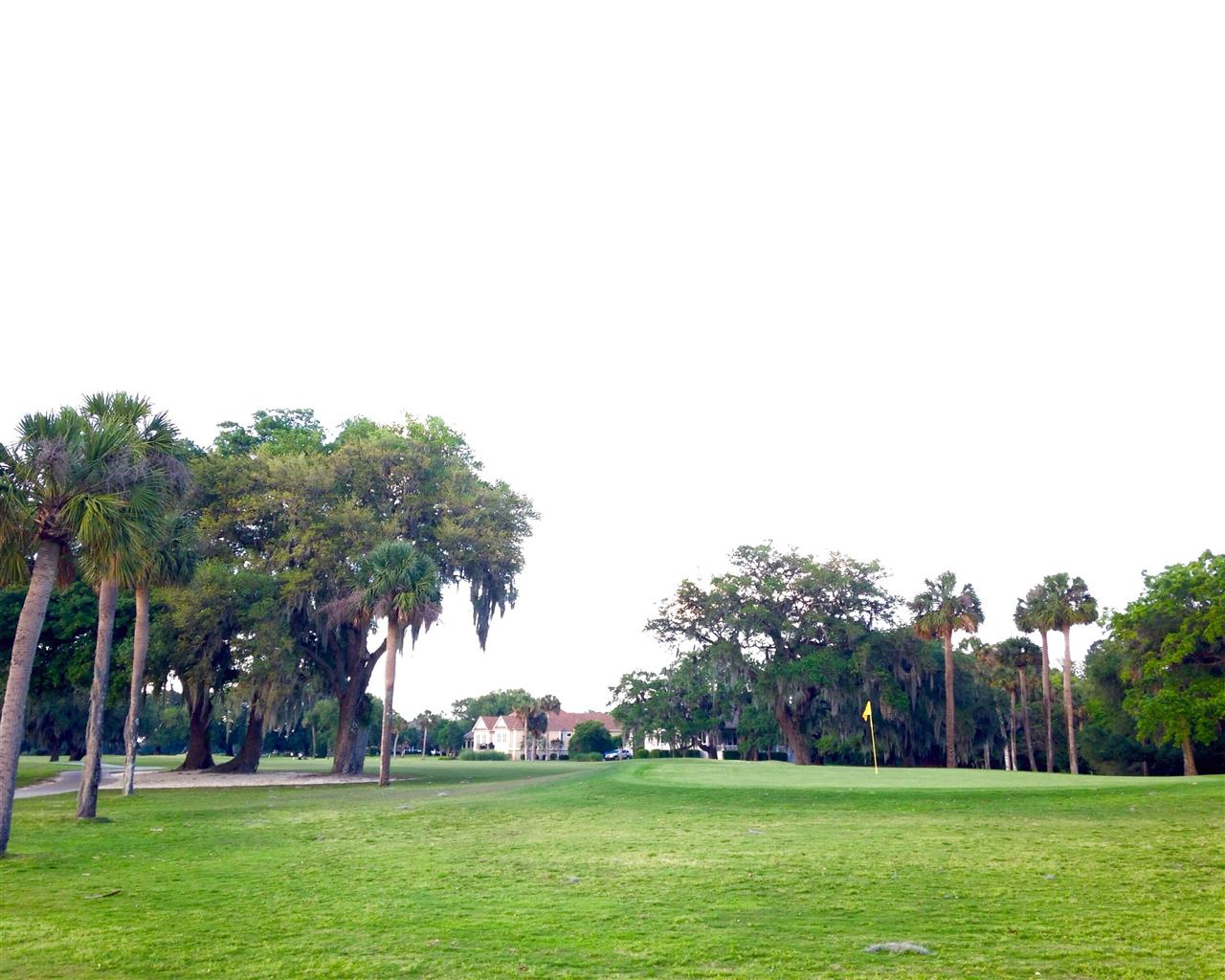 Moss Creek Hilton Head Island SC, looking back across one of the two Fazio private golf courses