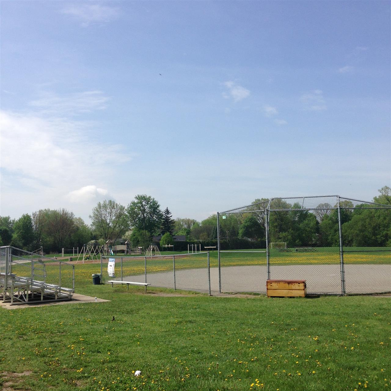 Sports field and playground at Birmingham Covington School, a district-wide, 3rd-to-8th-grade school of choice open to all Birmingham Public School District students. ~ Bloomfield Hills, Michigan #LeadingRElocal #BloomfieldHills #Michigan