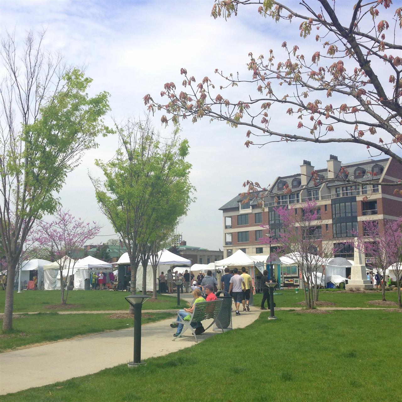 Every Mother's Day weekend, Art Birmingham celebrates its annual return to Shain Park, and showcases more than 150 juried artists ~  Birmingham, Michigan #LeadingRElocal #Birmingham #Michigan