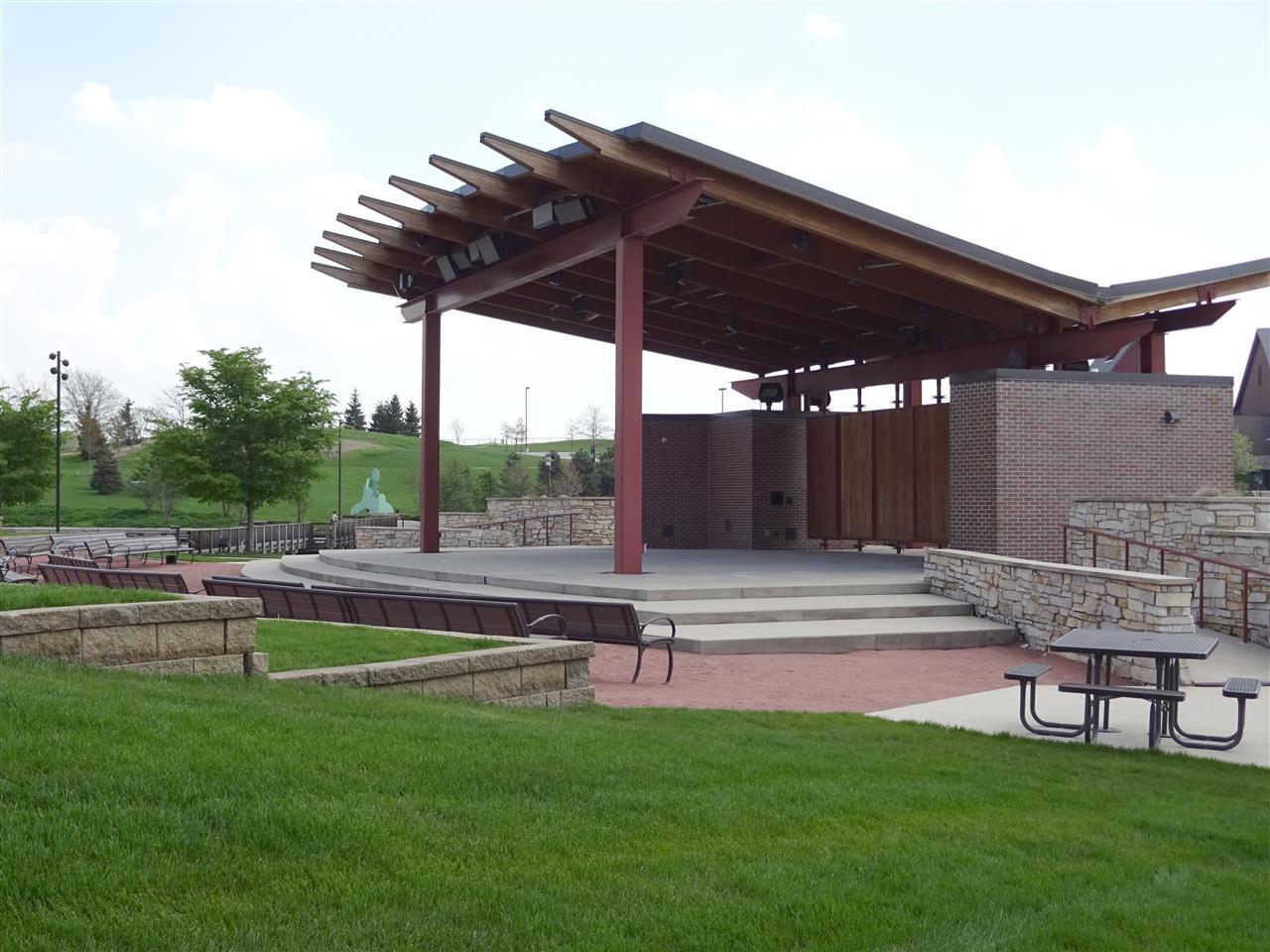 Centennial Park Concert Band-shell in Munster, Indiana