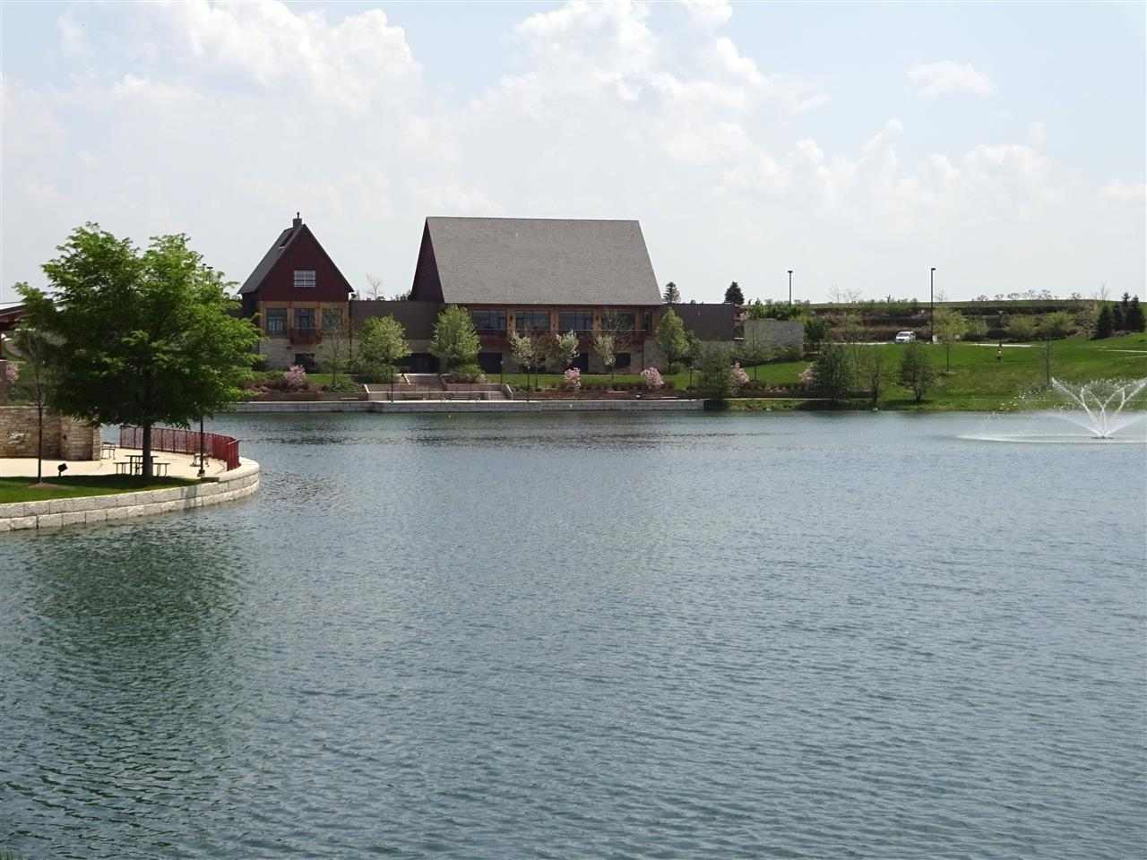 Centennial Park pond and banquet facility located in Munster, Indiana