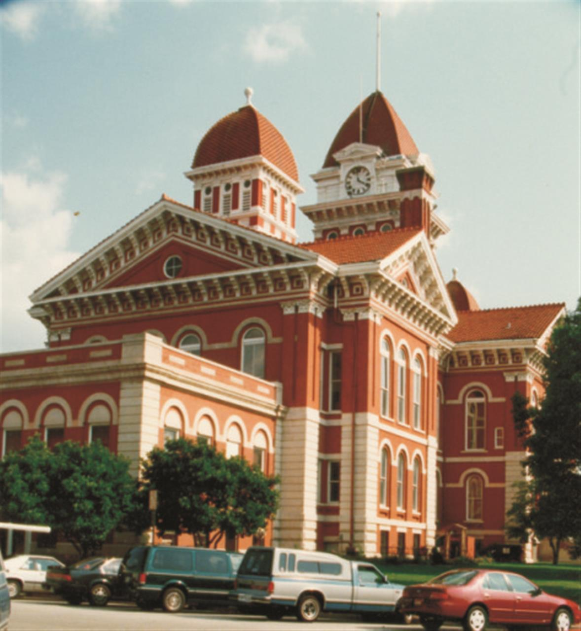 The Old Lake County Courthouse located in downtown Crown Point, Indiana.