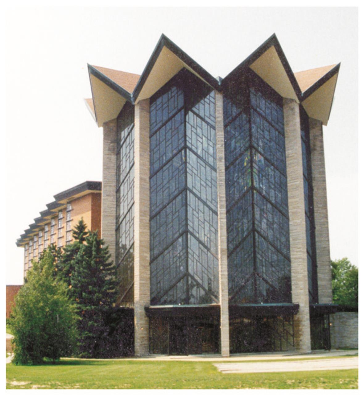 The beautiful Chapel of the Resurrection tower located at Valparaiso University in Valparaiso, Indiana.