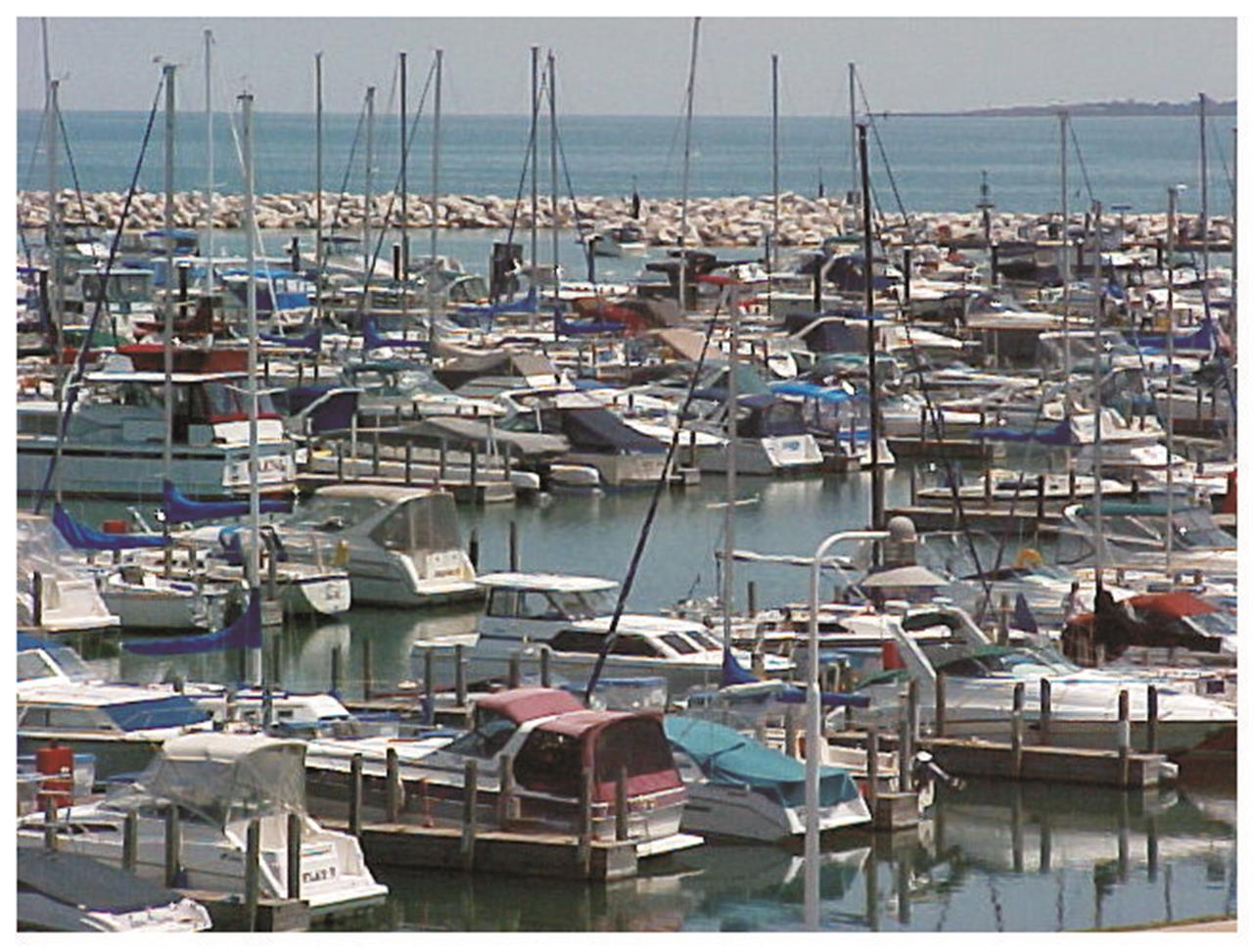 Pastrick Marina on Lake Michigan along the shoreline of East Chicago, Indiana.