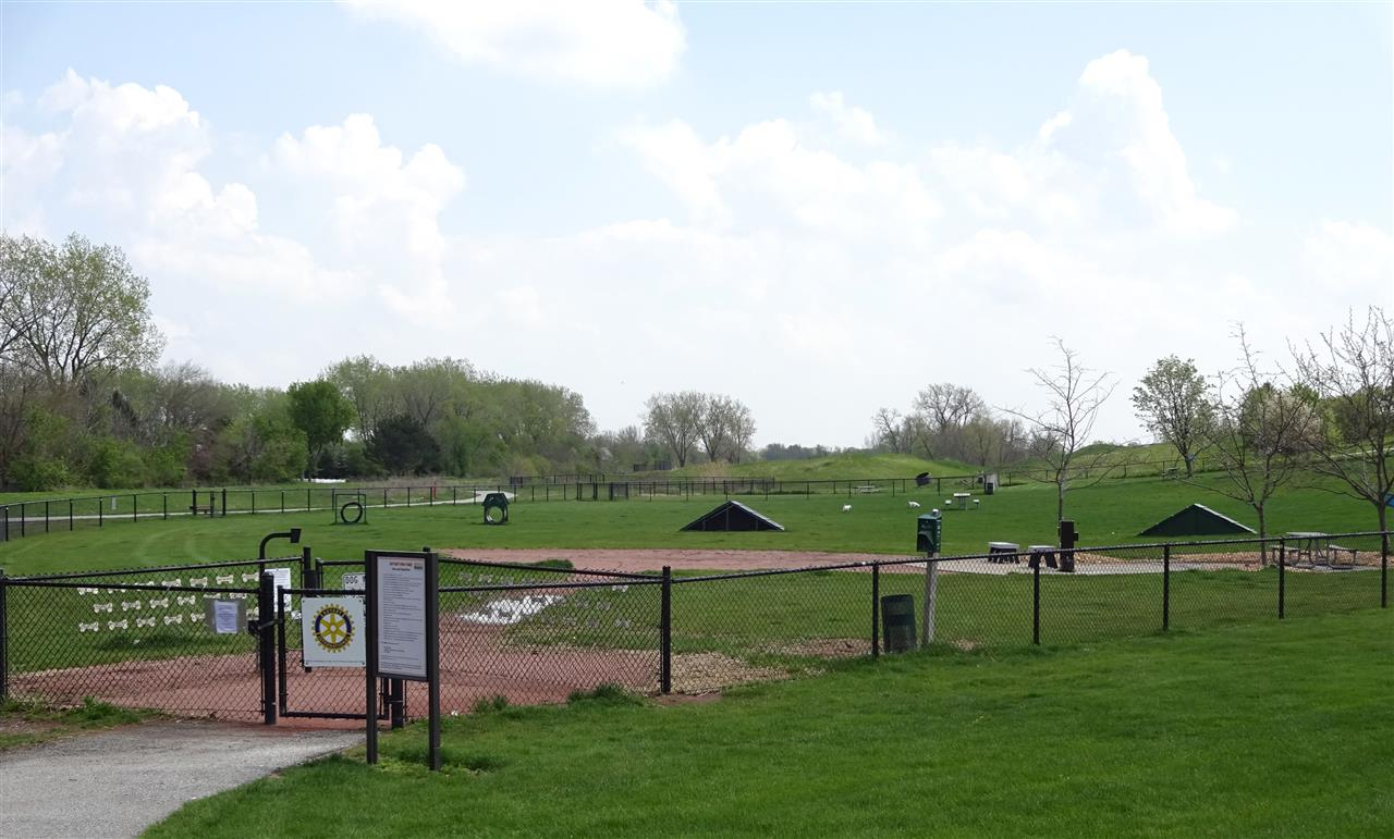 Dog Park at Centennial Park in Munster, Indiana.