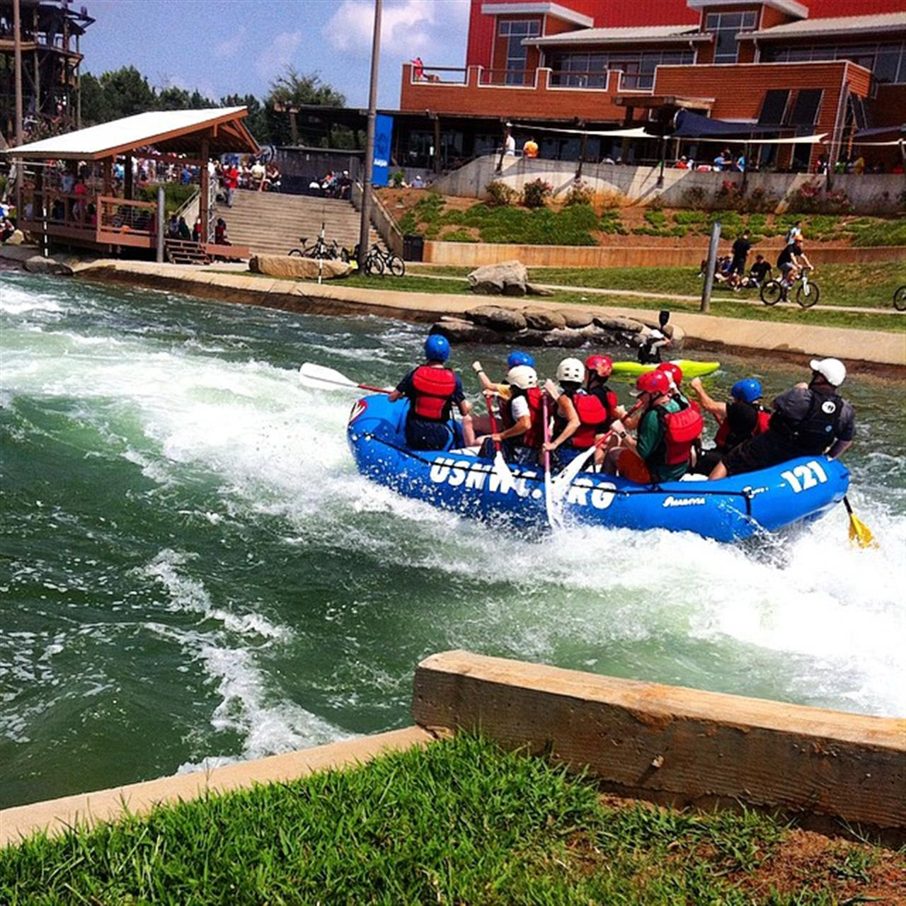 Beautiful day for rafting. #leadingrelocal #clt #nc