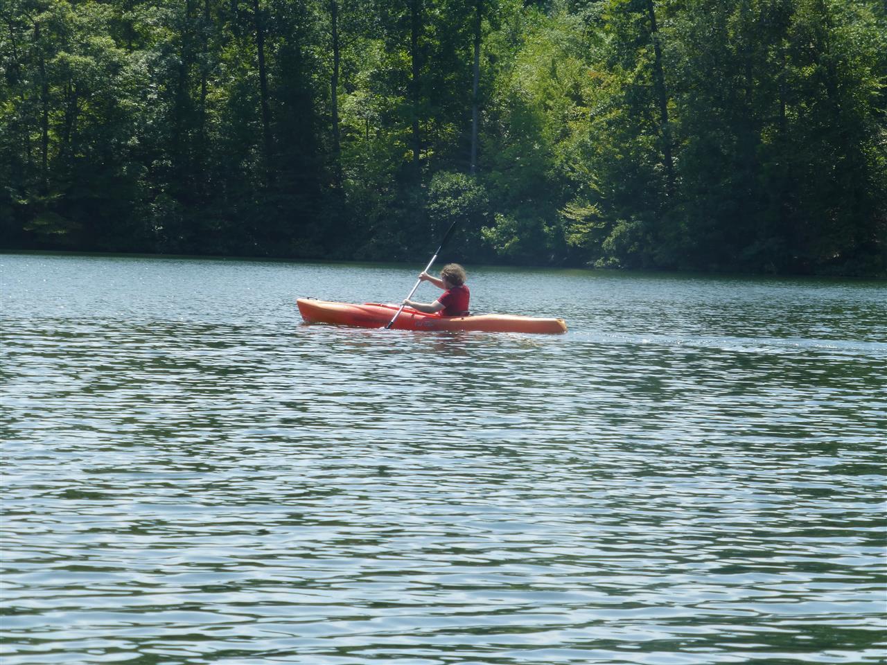 Kayaking on Waller's Mill Pond Williamsburg, VA