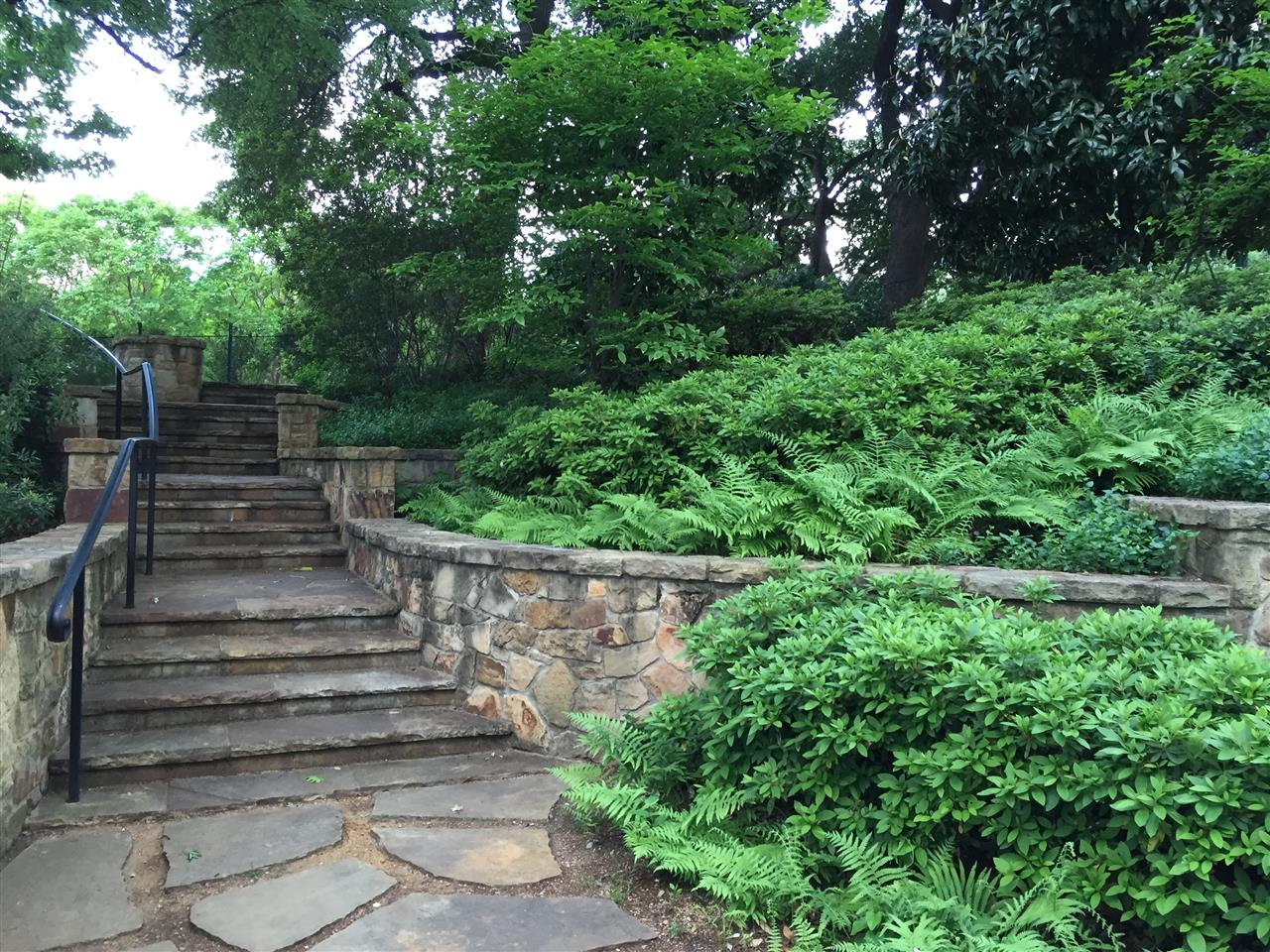 #Turtle Creek, #Lee Park, #Stone steps and path, #Dallas, #Texas