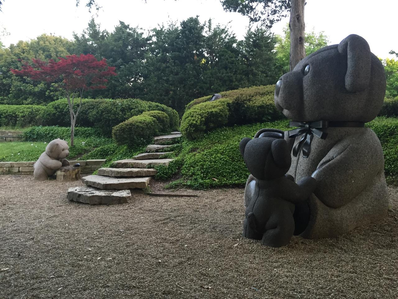 #Highland Park, #Turtle Creek, #Lakeside Park, Teddy Bear sculptures