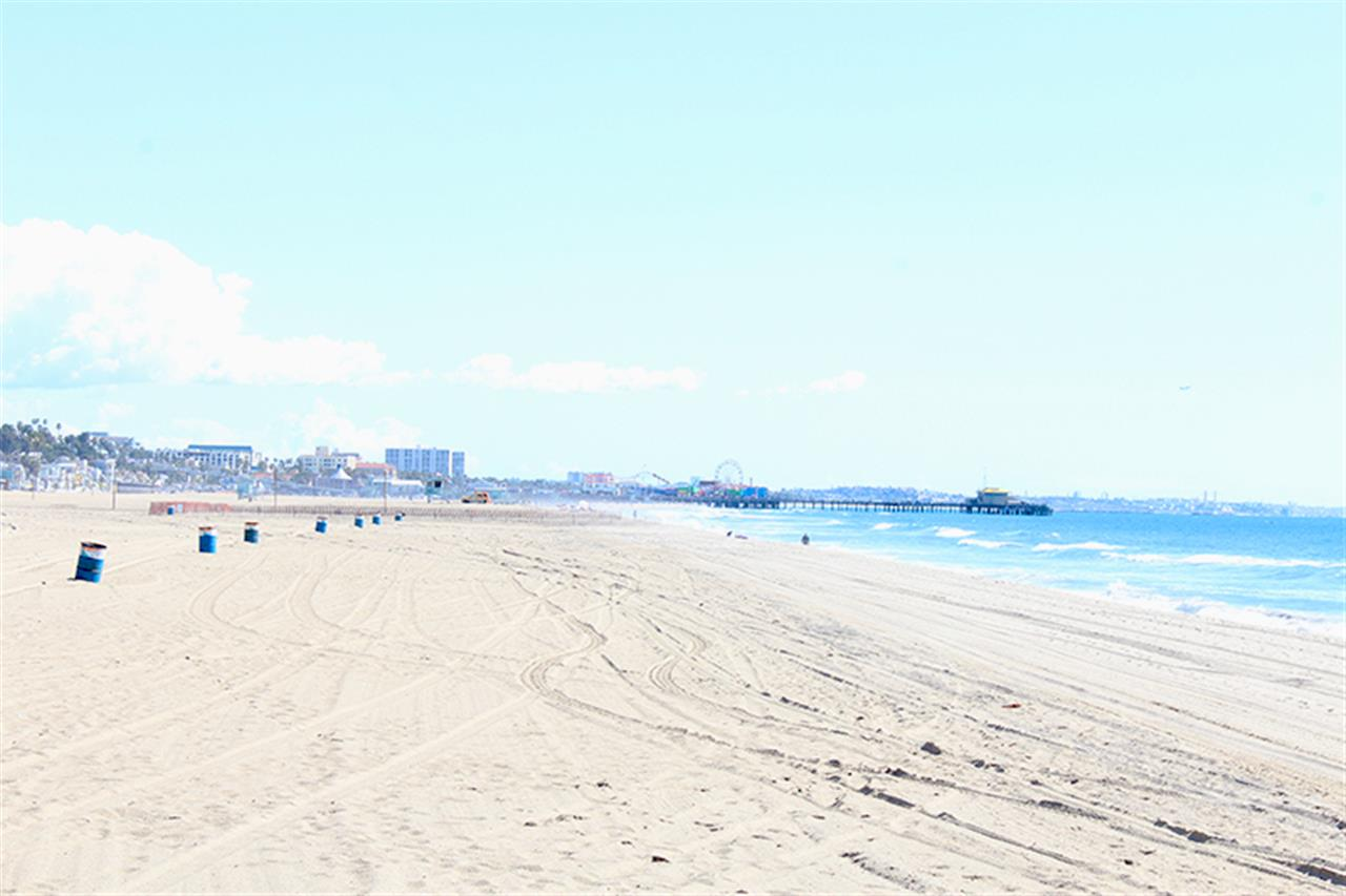 This photo is of Santa Monica Beach and the Pier taken in Santa Monica, CA. The photo is of a winter day, which shows SoCal climate. Photo by Gibson International Content Marketing Specialist Katherine Tattersfield.
