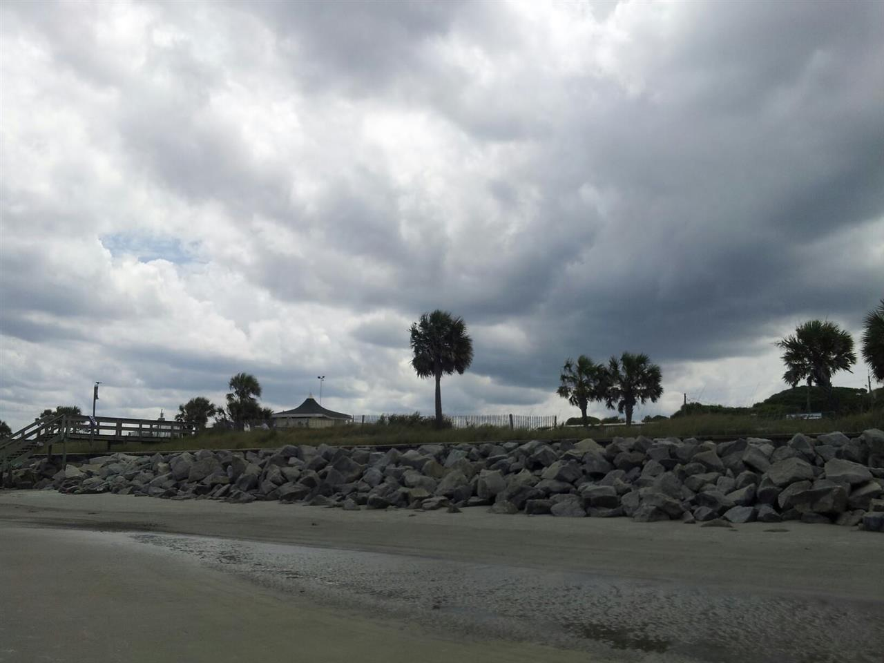 Southern view of main Jekyll Beach.