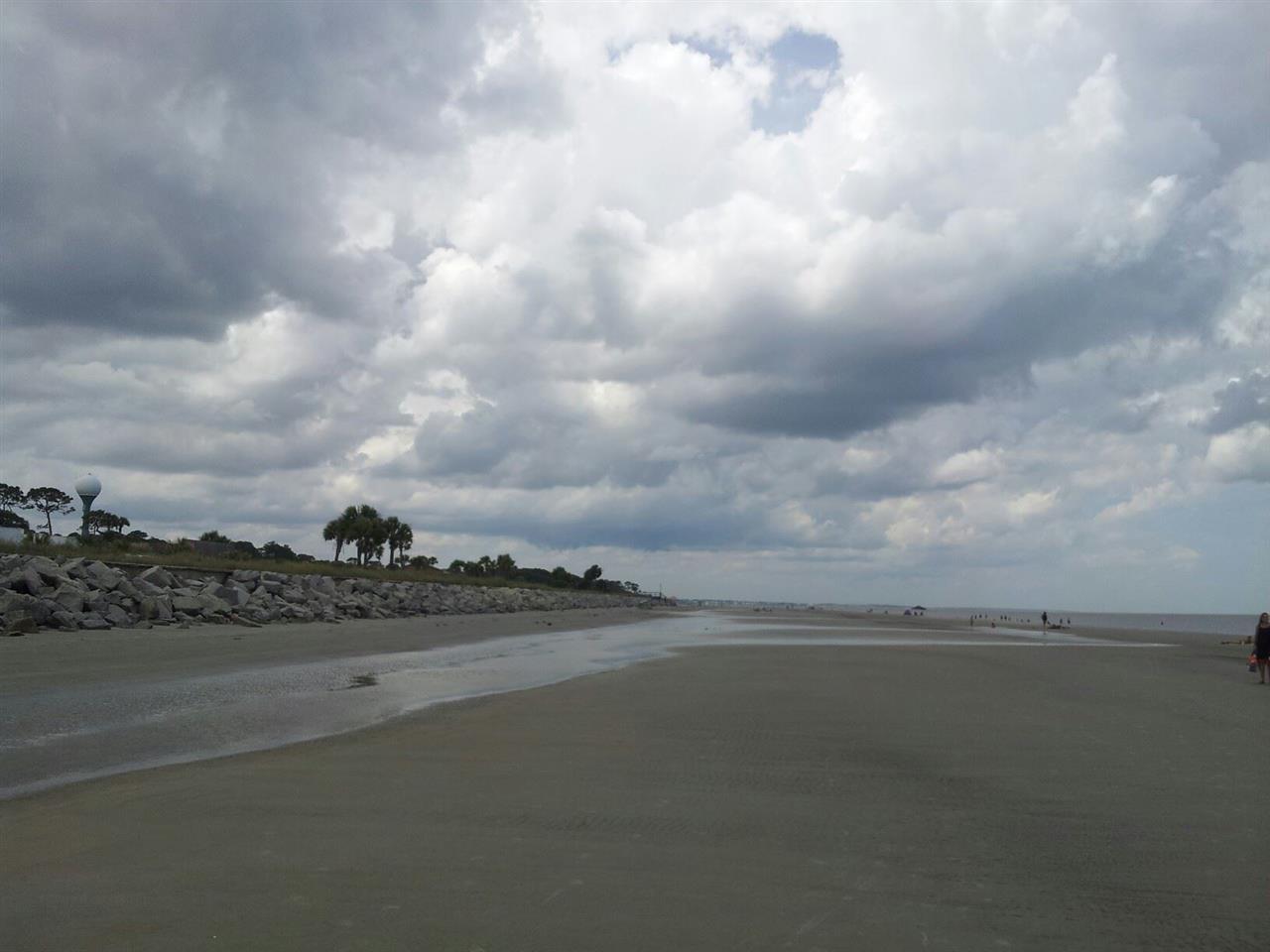 North view from Jekyll Island main beach.