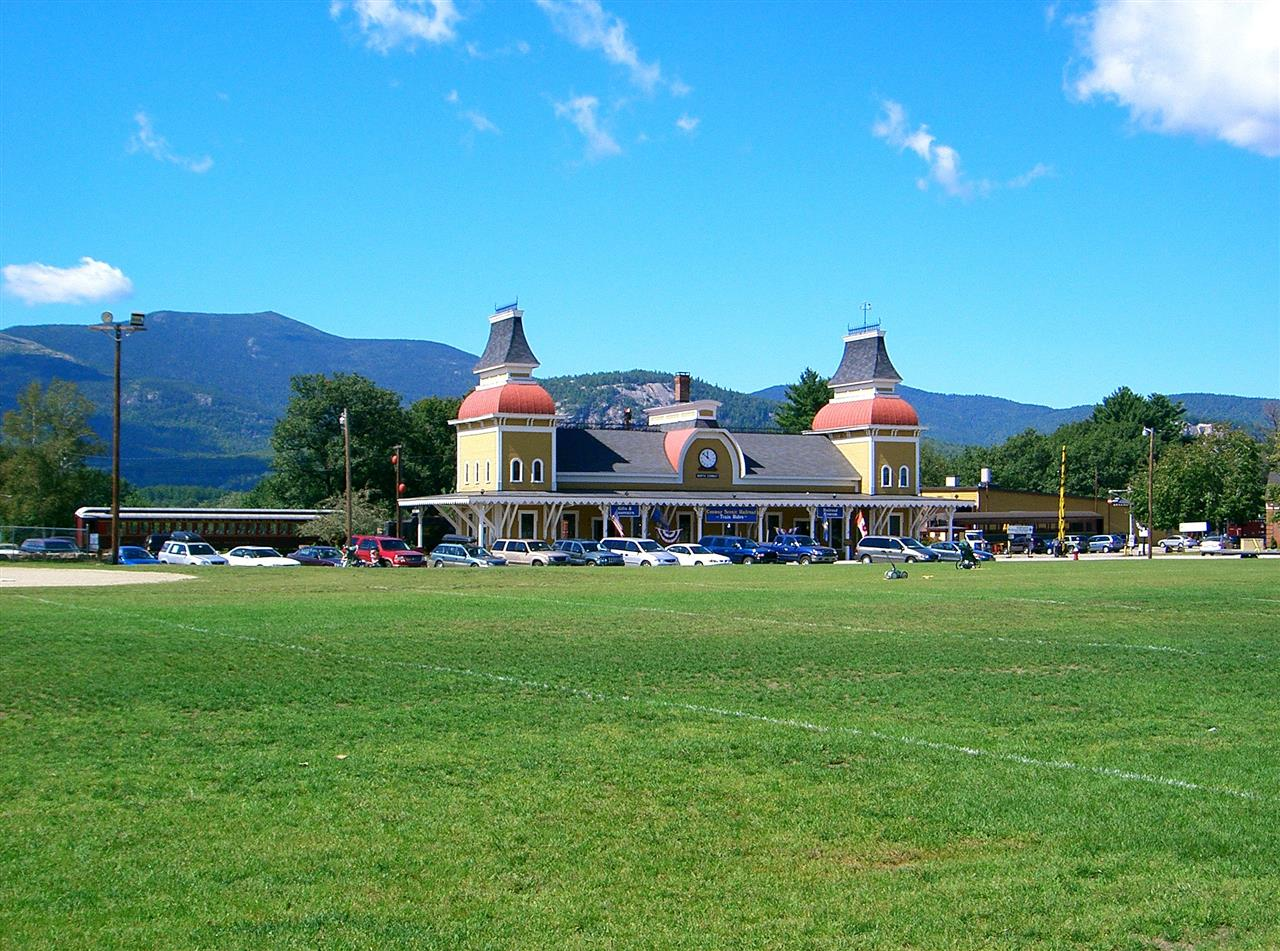#North Conway #New Hampshire #Train Station Located right in the center of North Conway, NH is the Conway Scenic Railroad. To many locals, a ride on the train is considered a tradition with spectacular views to the White Mountains.