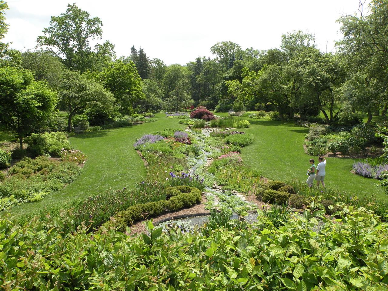 Water garden at Ladew Topiary Garden, Monkton, MD
