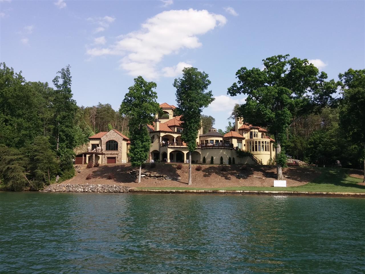 Bella Collina Mansion  a very popular wedding venue on Belews Lake located between Greensboro and Winston-Salem, NC.