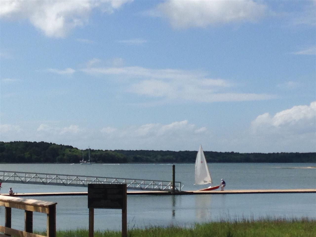 Hilton Head Island SC,  Rowing and Sailing Center at Squire Pope Community Park on Skull Creek