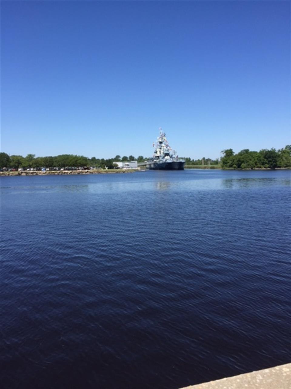 USS North Carolina from Wilmington's River Walk