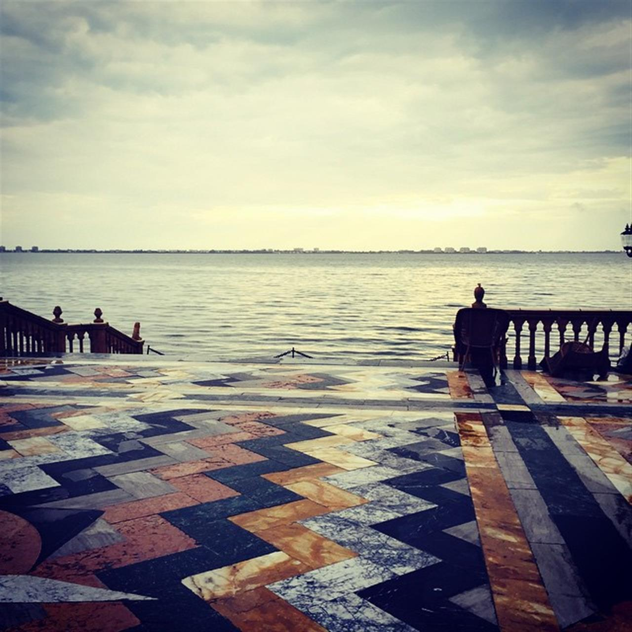 John Ringling home. Patio view