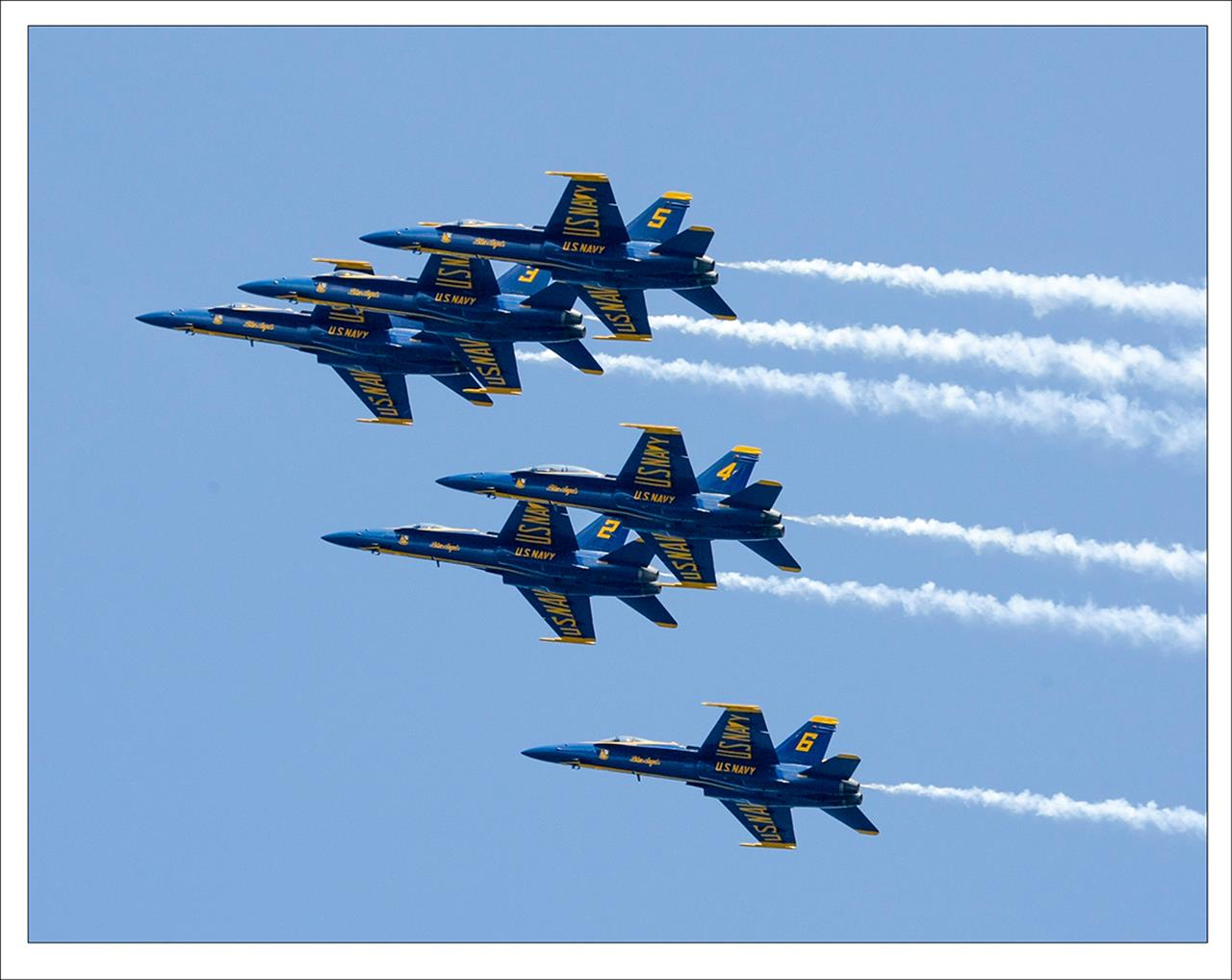 Blue Angel's Flying over Naval Academy, Annapolis, MD