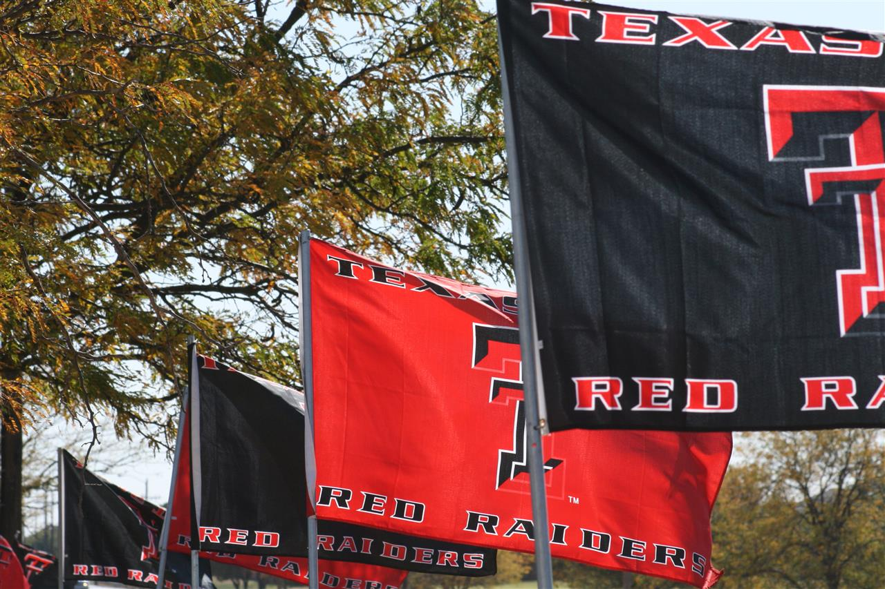 Game Day!  Texas Tech fans proudly display the red and black University colors all over Lubbock.