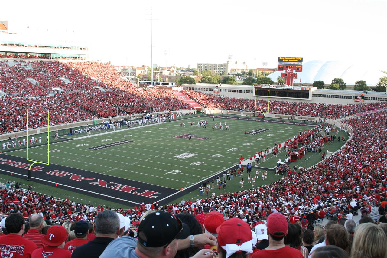 AT&T Jones Stadium on game day