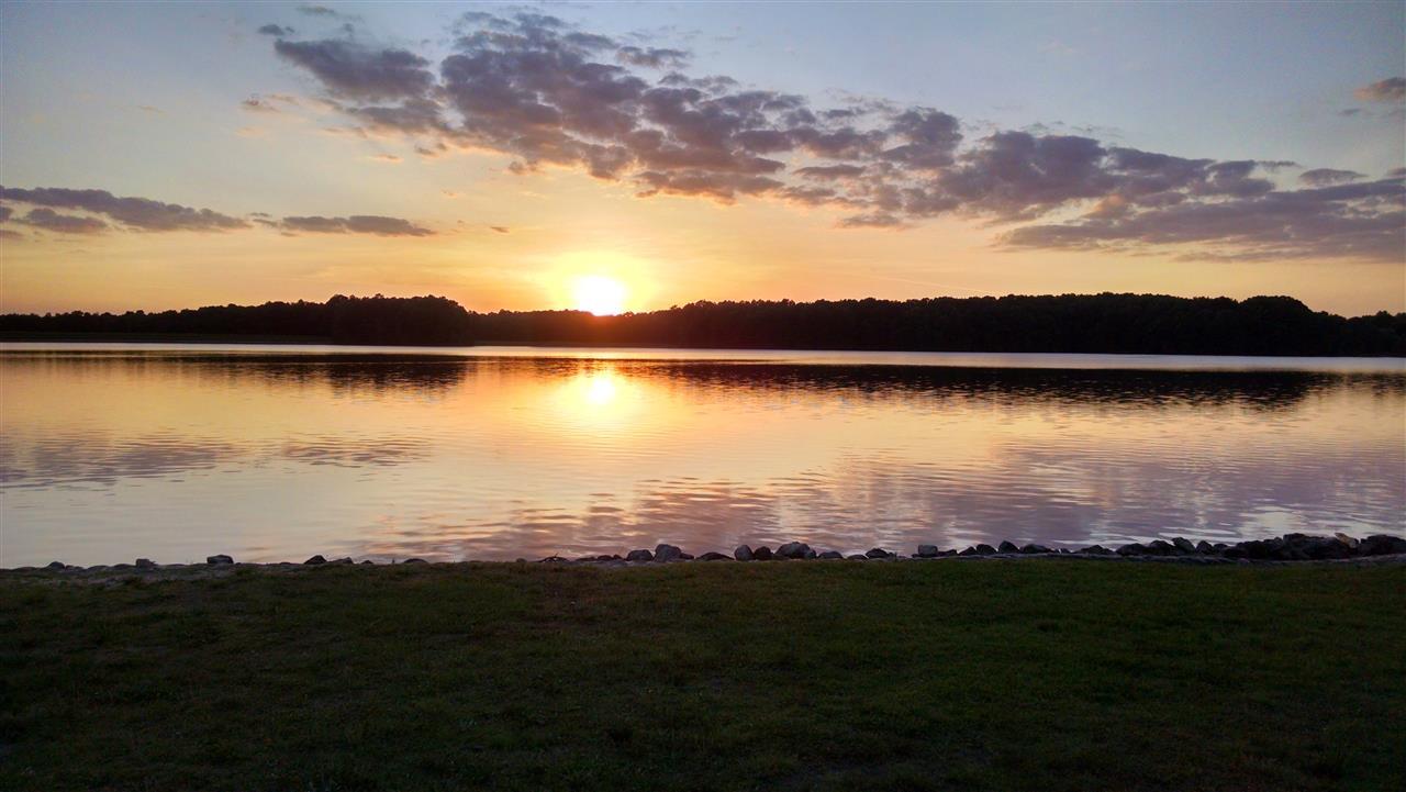 Sunset over the lake at#CaneCreekPark in #Waxhaw, #NorthCarolina