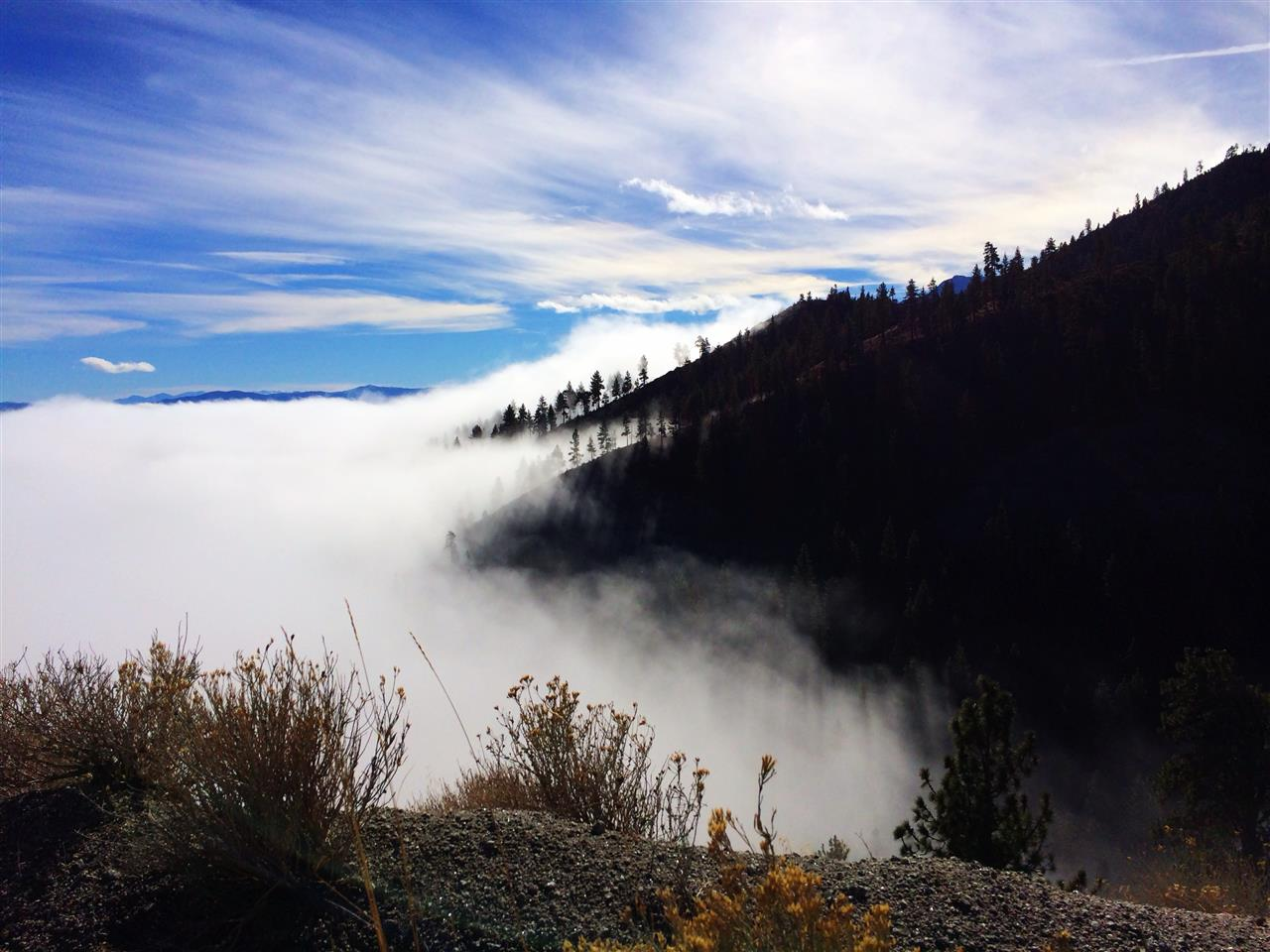 #Carson Valley, NV #High Altitude View #Fog