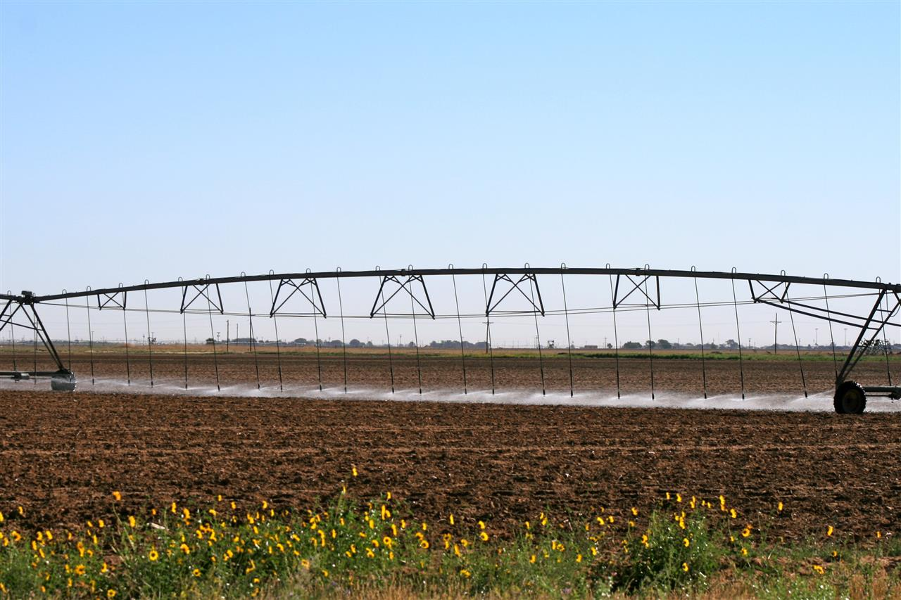 Farm land being prepared for planting