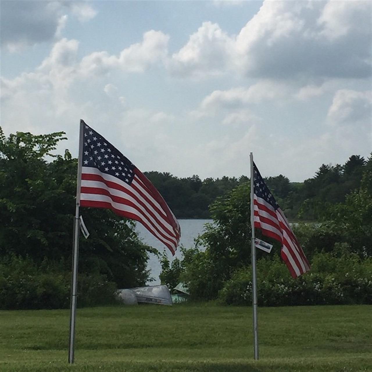 Memorial Day flags flying at Lake Gleneida in #Carmel NY. #LeadingRELocal #Putnam