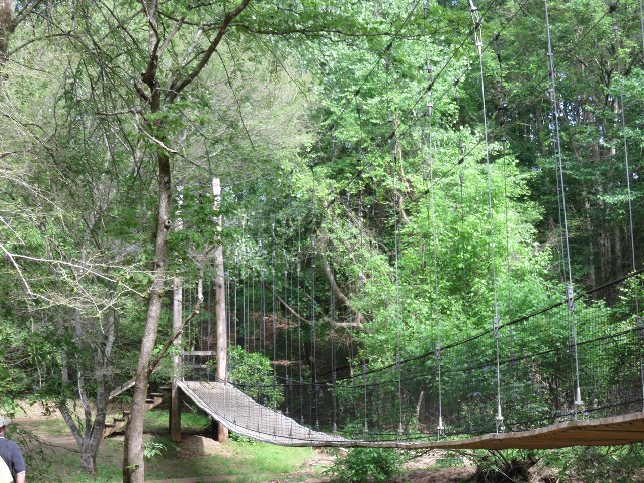 Swinging Bridge Anne Springs Greenway Fort Mill, SC
