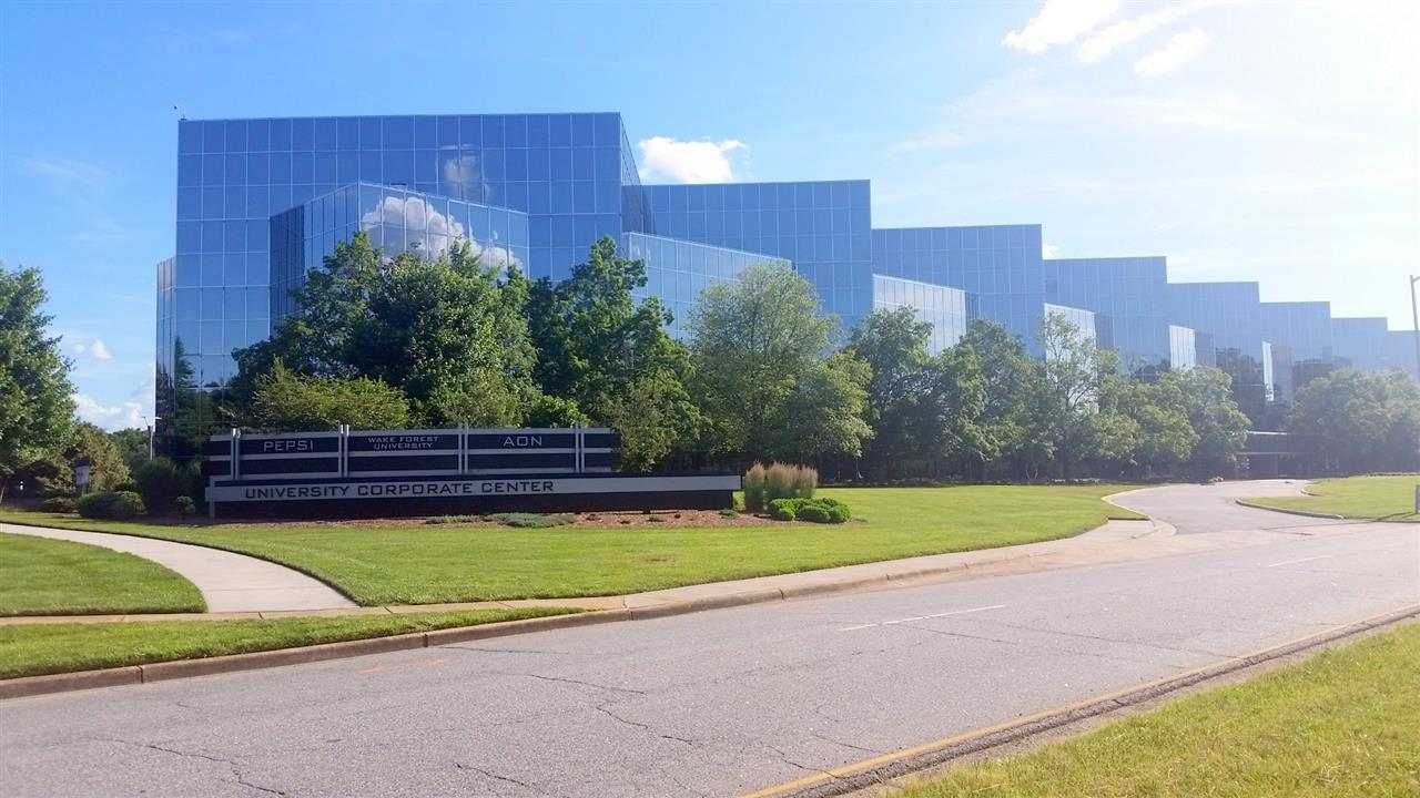 University Corporate Center with Bowman Gray Technology Building in the background