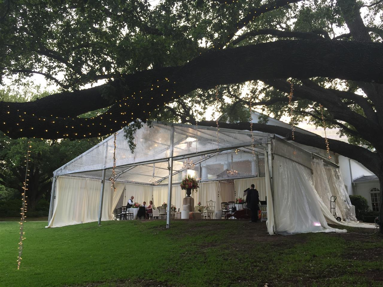 #Dallas, #Texas, Party tent on the lawn at Arlington Hall, Lee Park, #Turtle Creek
