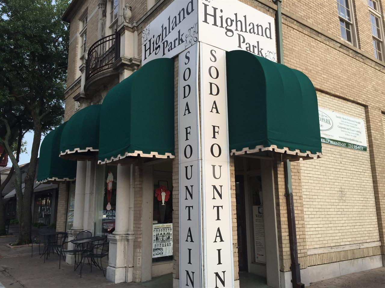 #Dallas, #Texas, Vintage Knox Street Highland Park Pharmacy & Soda Fountain, #Uptown, #Oaklawn
