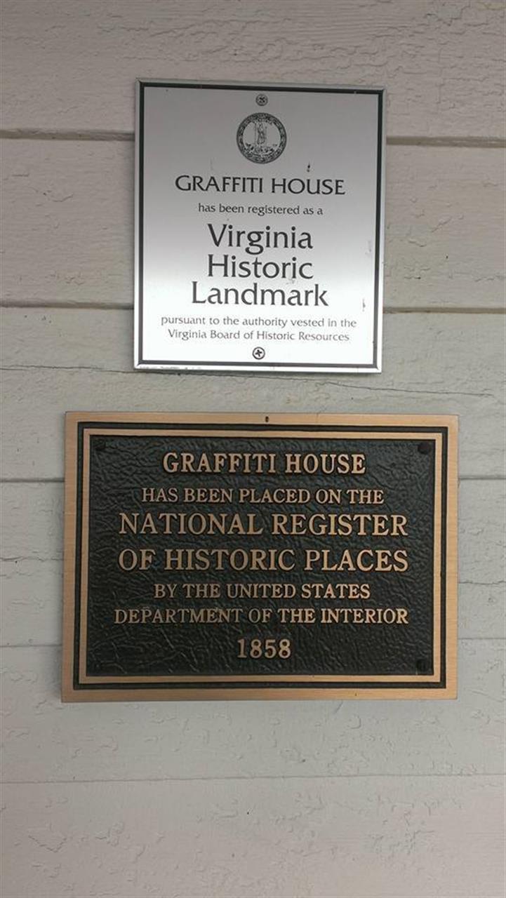 Graffiti House Plaque Brandy Station, Va. Historic Landmark Culpeper County