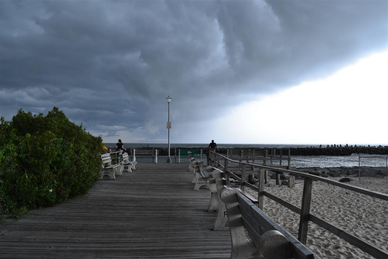 Point Pleasant Boardwalk, Inlet, storm, New Jersey