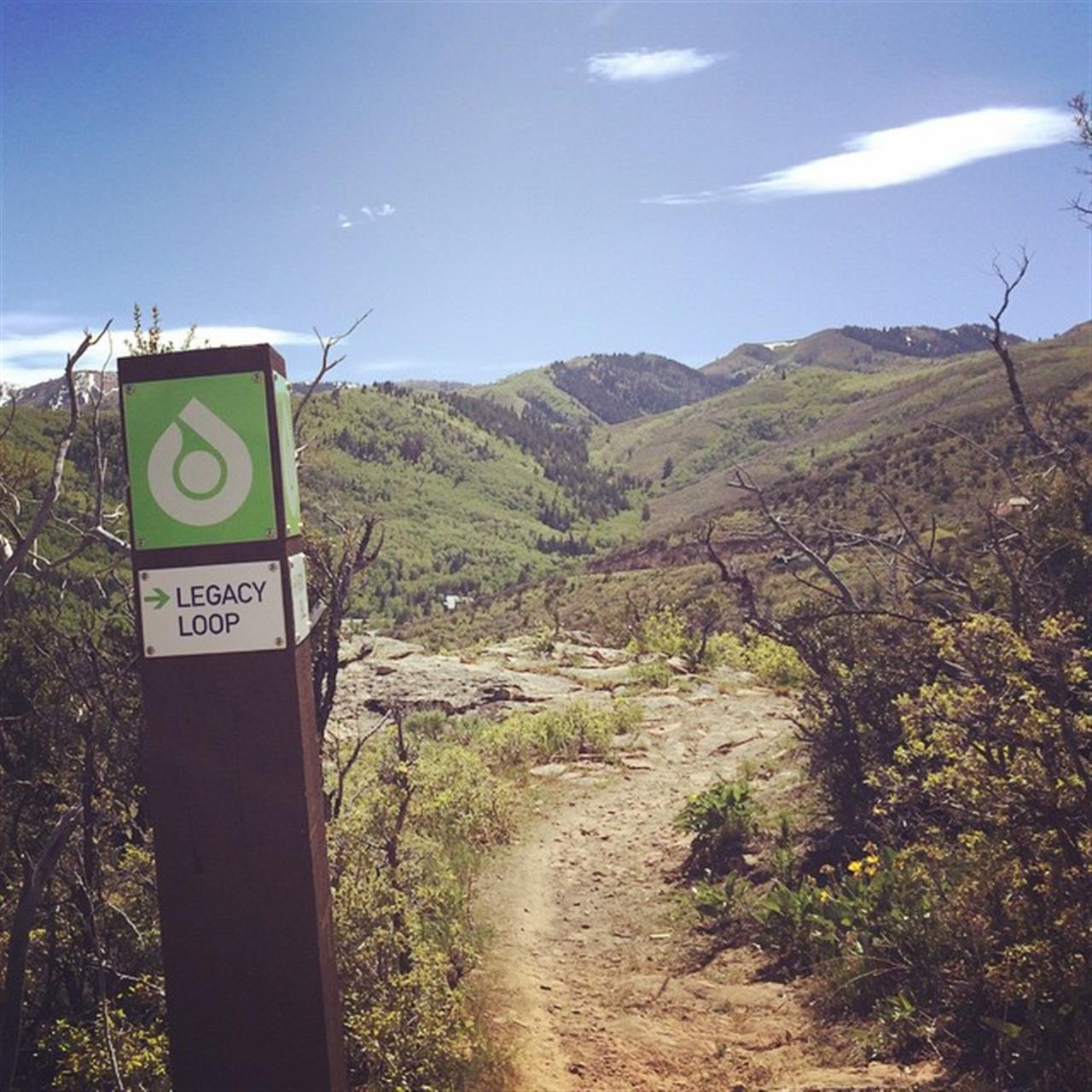 The @utaholympicpark is right in our backyard with a trail system perfect for walking, hiking or biking! #legacyloop #olympicpark #parkcity #slc #leadingrelocal