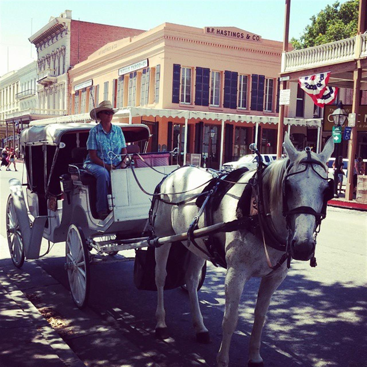 Best way to experience #oldsacramento is on a horse drawn carriage. #leadingrelocal #lyonrealestate #carriageride