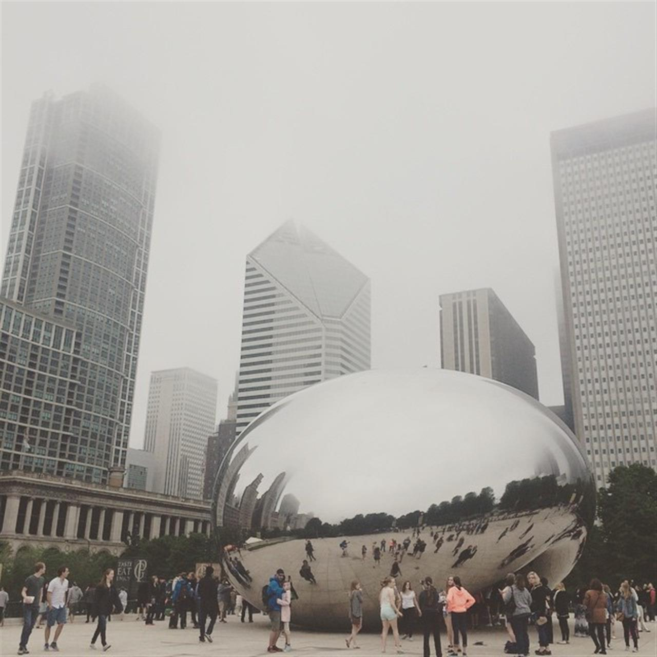 An eerie foggy day at the Bean. #cloudgate #aasquaredblog