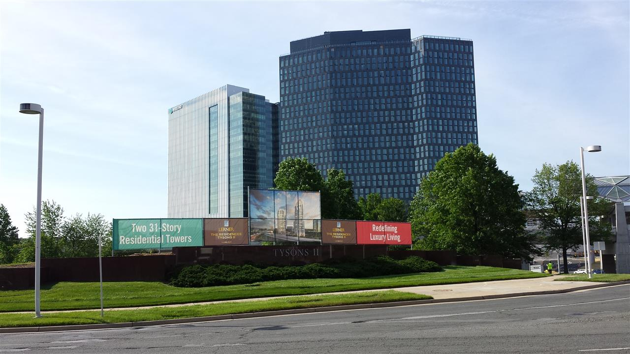 Future Site of The Residences, Tysosn II. Two 31-Story Residential Towers. #Tysons Corner, #McLean VA