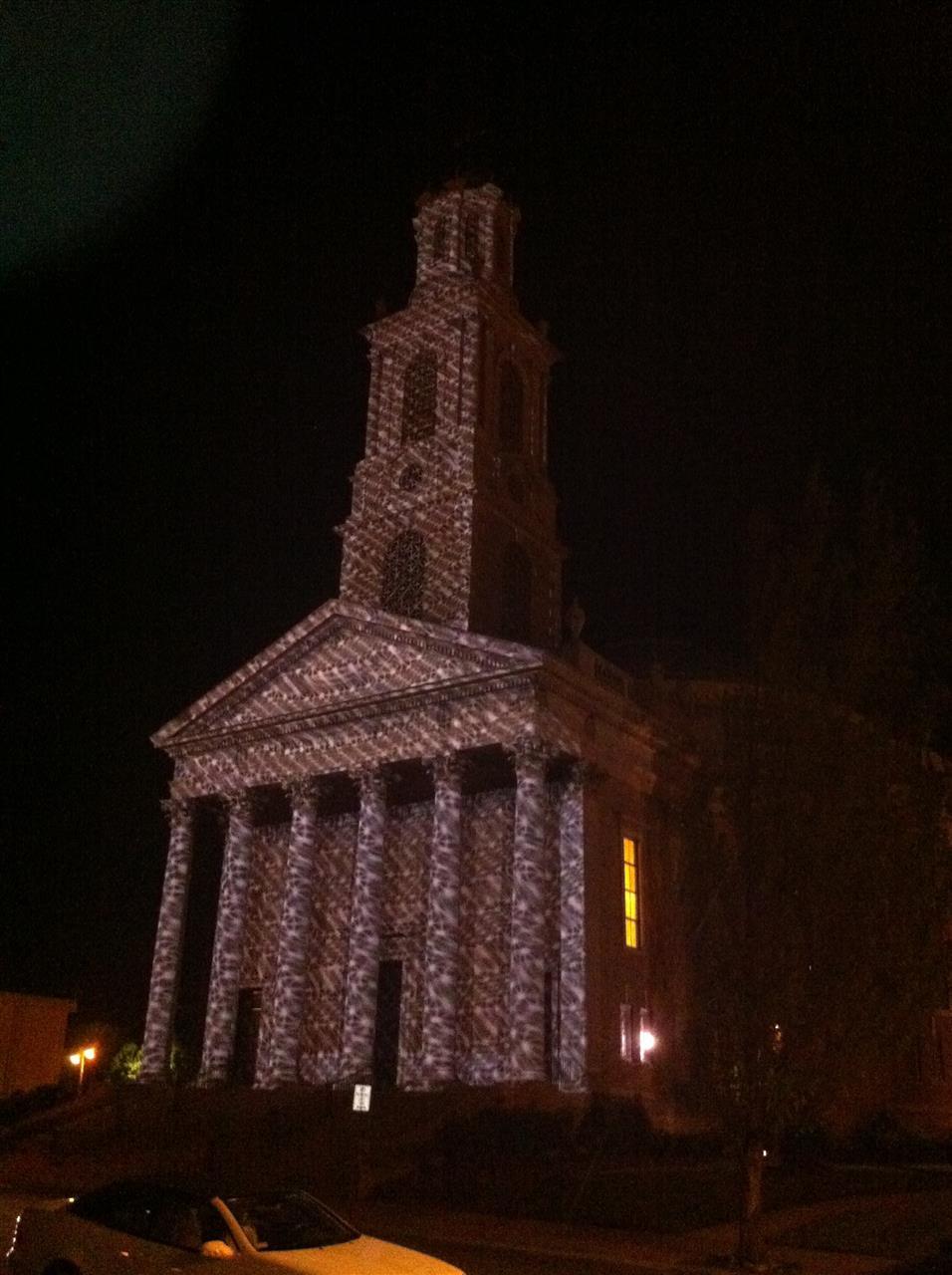 Winston-Salem, NC -Light show at First Baptist Church