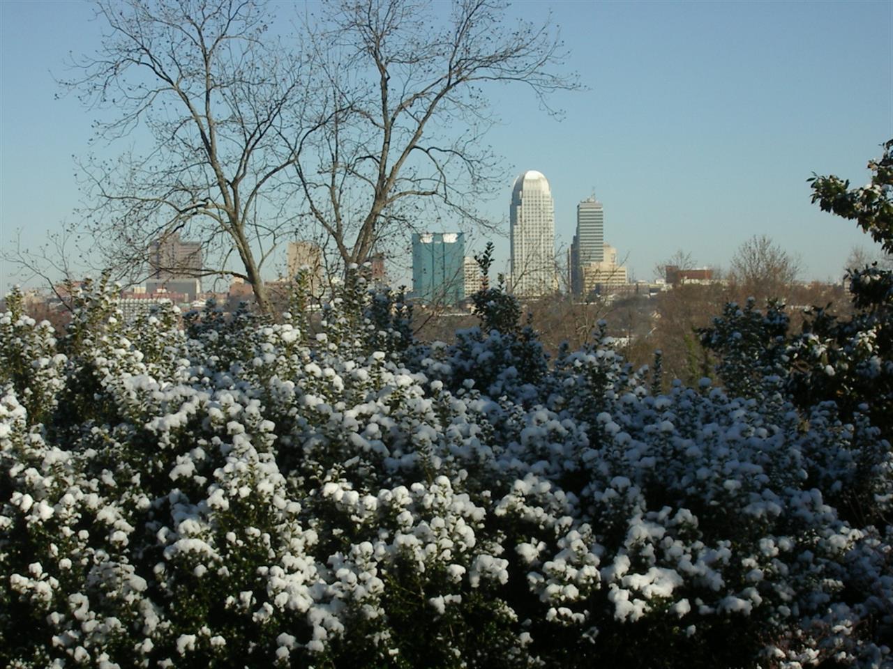Winter snow, Winston-Salem, NC