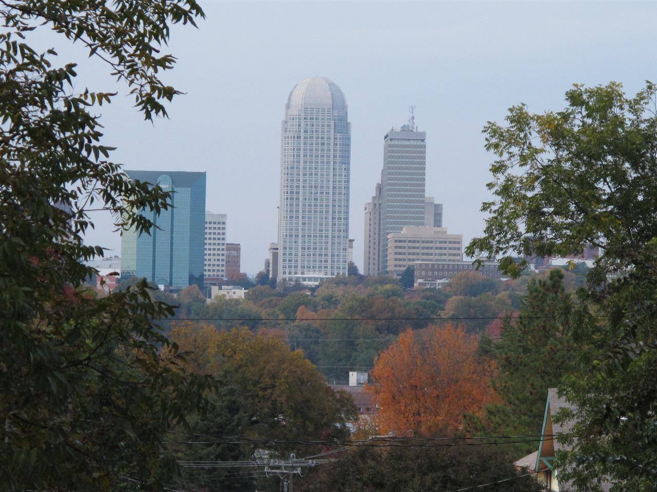Winston-Salem,NC Skyline view in fall