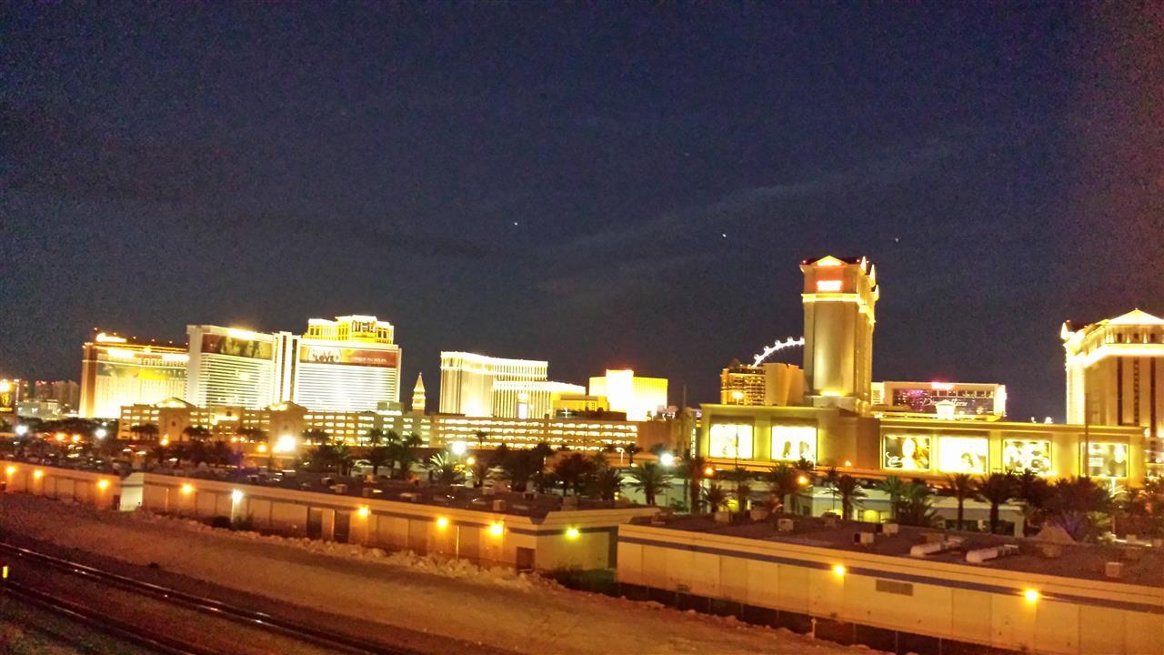 Las Vegas Strip view from Las Vegas, NV USA