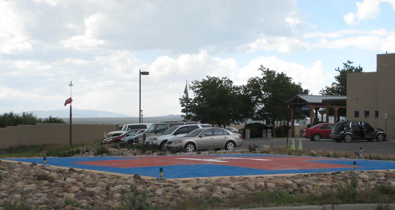 #Taos neighborhoods #Holy Cross Hospital helipad #Weimer #Taos #New Mexico