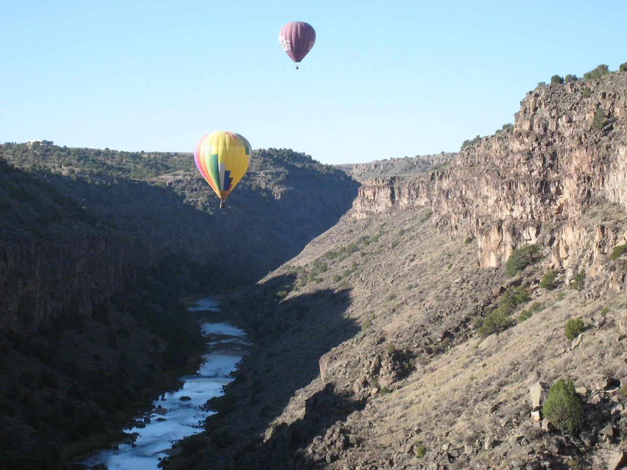 #Taos recreation #hot air balloons #Rio Grande Gorge #Taos #New Mexio