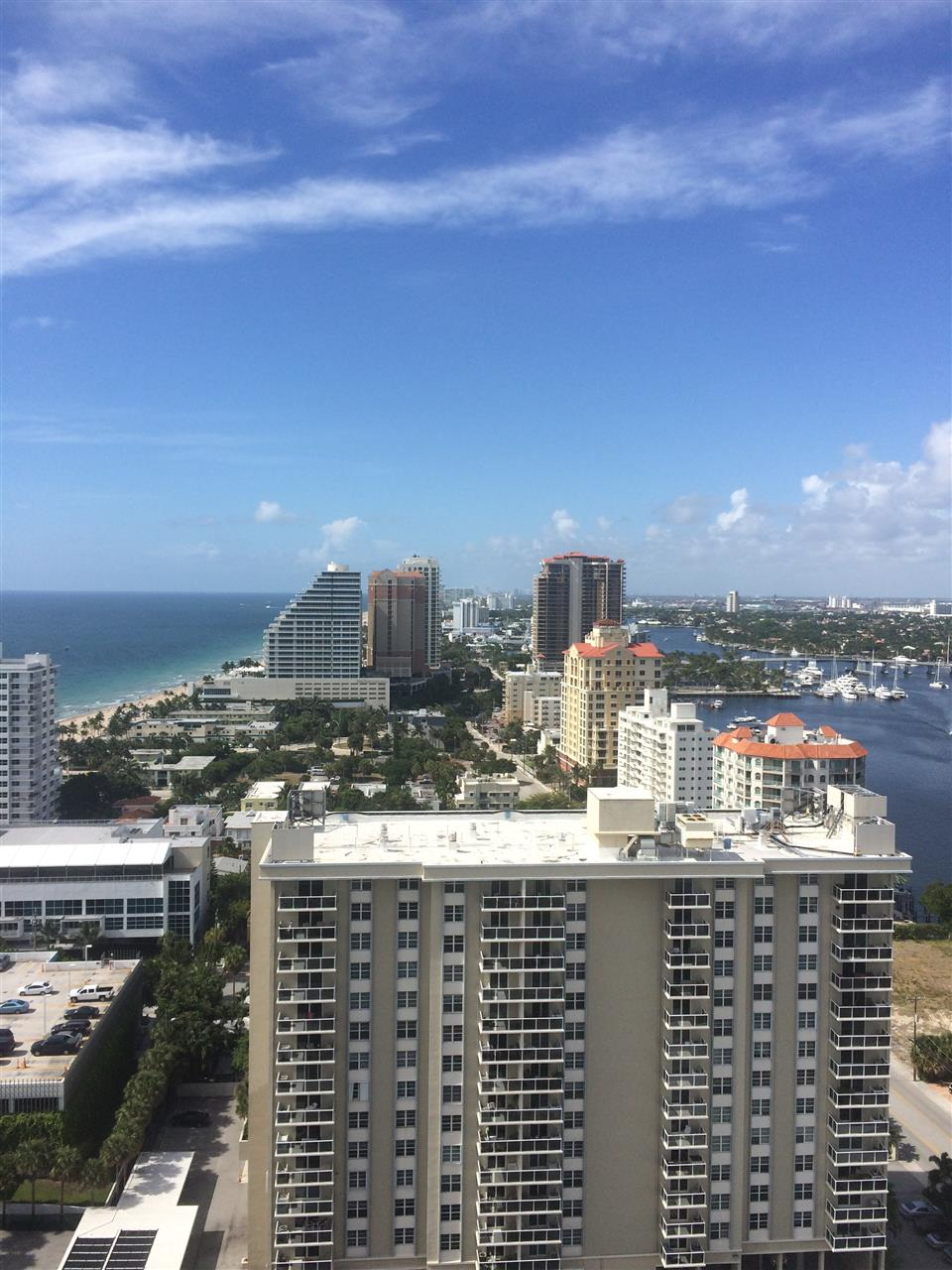 Fort Lauderdale beach and intracoastal from the top of the W hotel