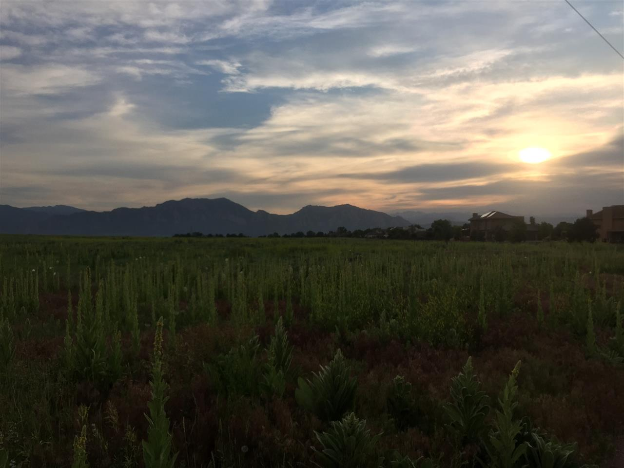 Sunset over Davidson Mesa, Louisville, CO