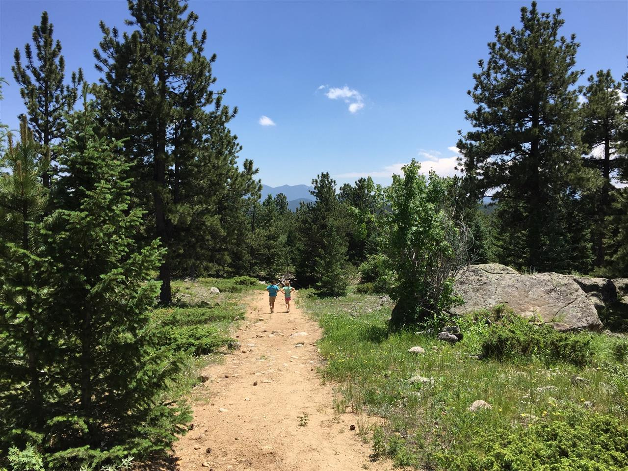 Hiking on Caribou Ranch Open Space, Nederland, CO